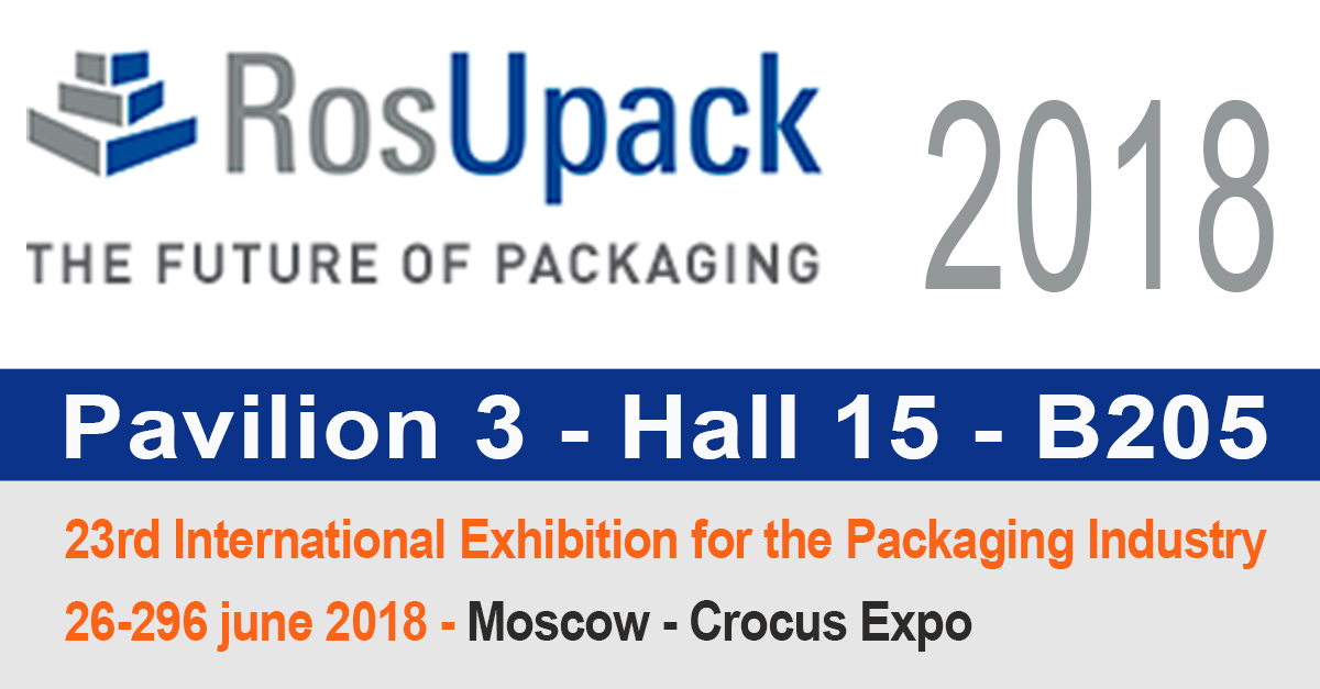 We will attend RosUpack 2018 International Exhibition for the Packaging Industry in Moscow