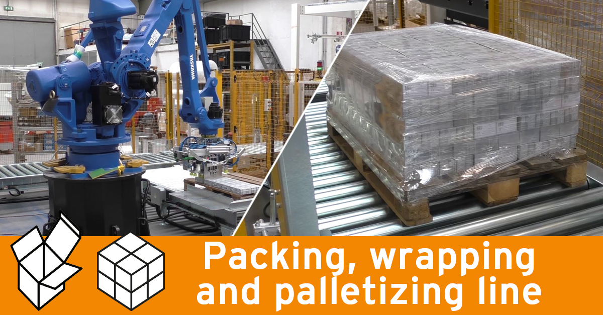 Packing and palletizing line