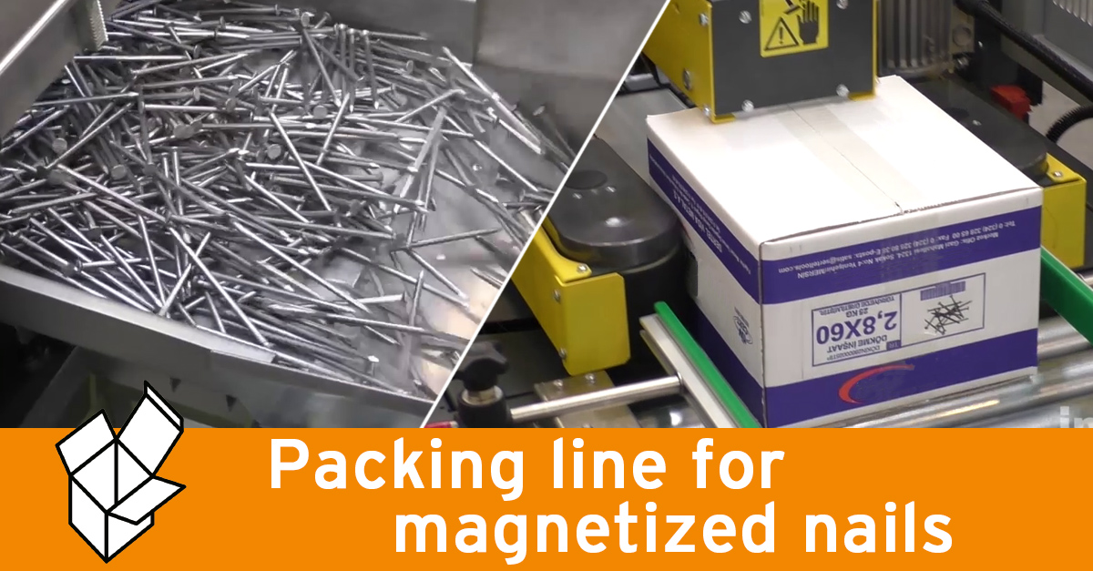 Video - Packing line for magnetized nails