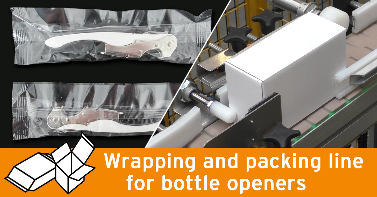 Video - Packing line for bottle openers