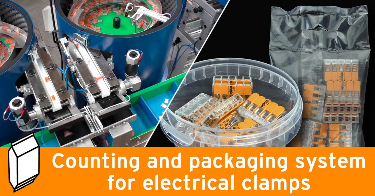 Video - Packaging line for electrical clamps
