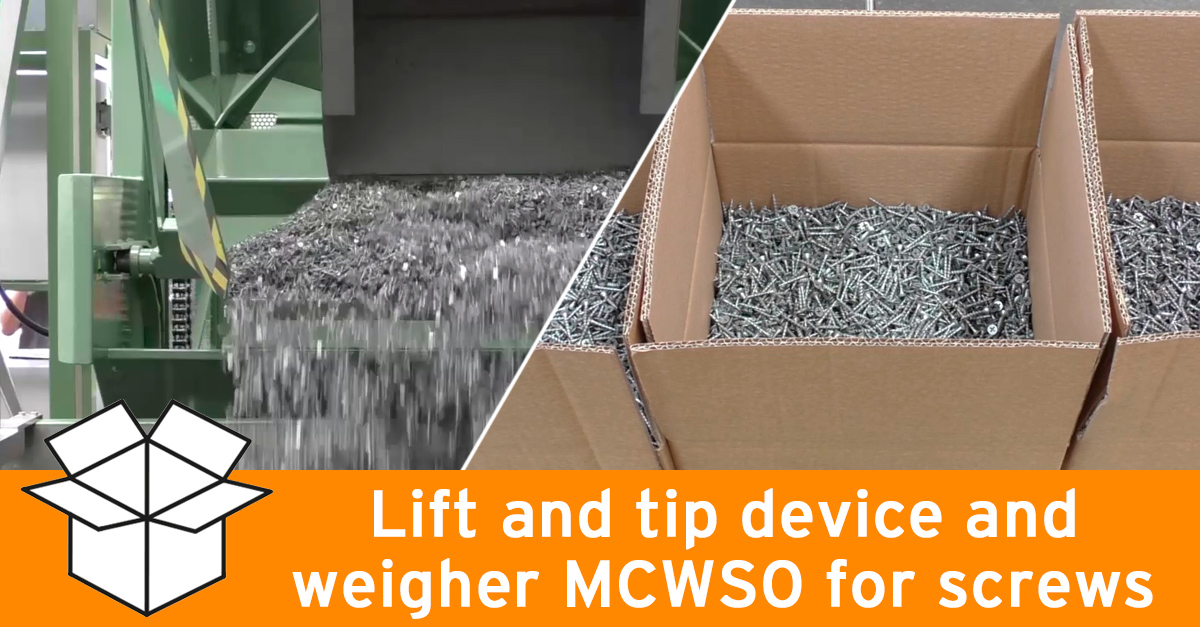 Video - Weighing and magnetizing machinery for screws
