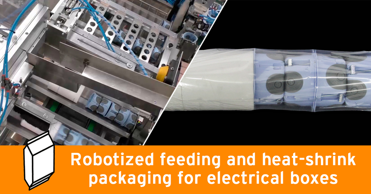 Video - Inclined packaging machine Lidpack with robotized feeder