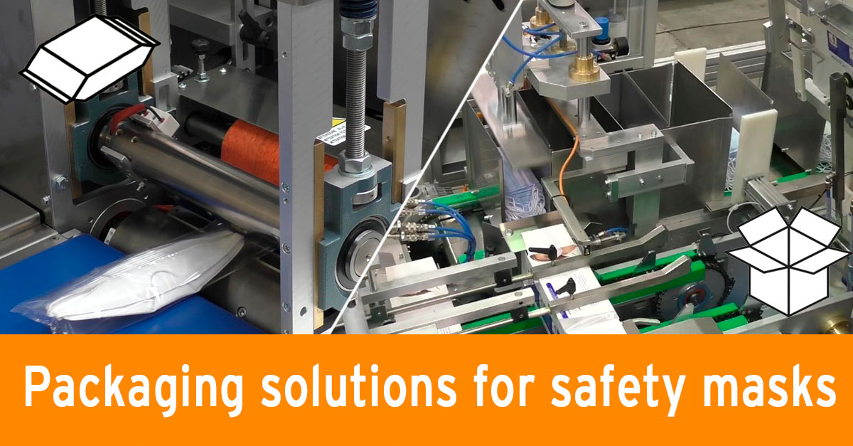 Packaging solutions for safety masks