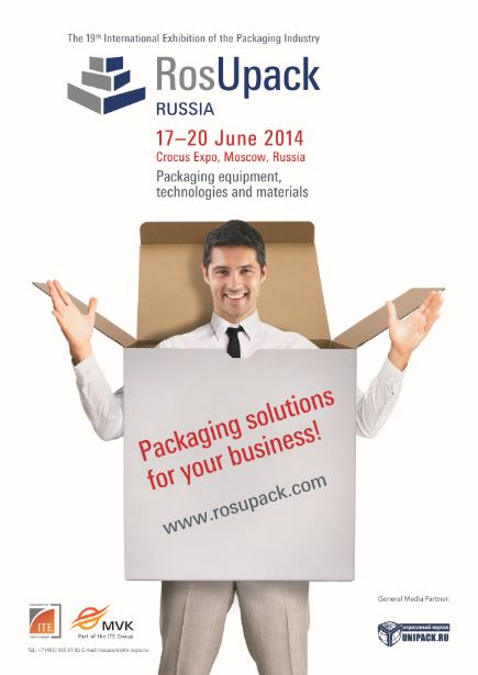 We will be presented at <b>RosuPack expo</b> at Moscow, to show the best Packaging Solutions to the Russian market.