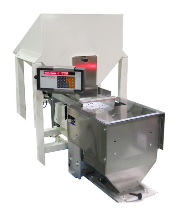 Semi-automatic piece counting/weighing machine