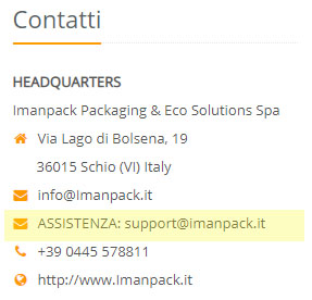email imanpack support