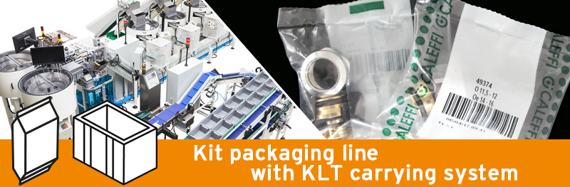 Video - Kit packaging line with KLT carrying system