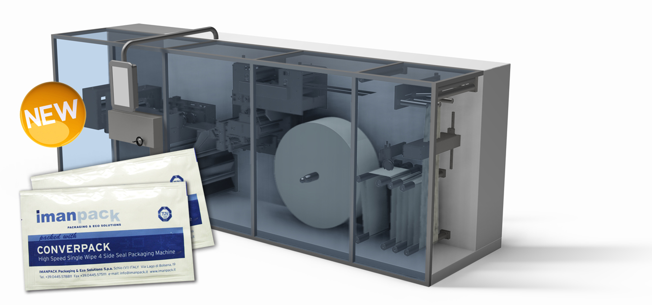 A FLEXIBLE PLATFORM FOR AUTOMATIC PACKAGING OF SINGLE CROSS FOLD WET WIPES - Speed, Efficiency, Flexibility and Total System Reliability